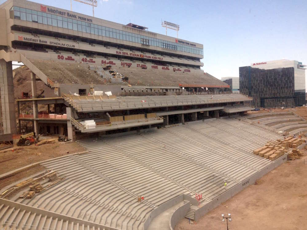The lower bowl on the west side was completely rebuilt.