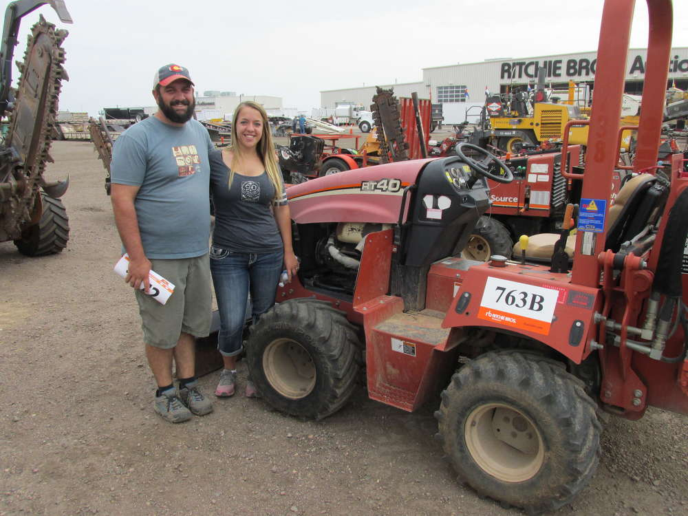 Matthew (L) and Stefanie Verderaime of Zak George Landscaping in Fort Collins, Colo., think this Ditch Witch RT 40 will be perfect for an upcoming project.