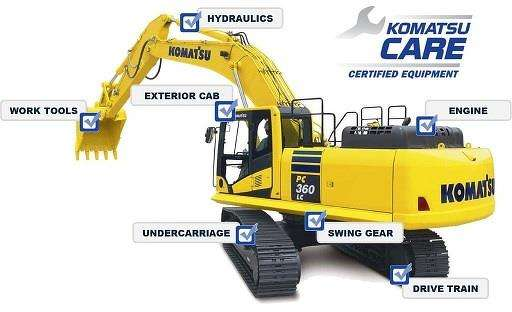 Komatsu CARE Certified is a comprehensive certification program for customers seeking premium used equipment in the marketplace. What makes Komatsu CARE Certified units unique from other used equipment is that these machines have been previously maintained under Komatsu CARE Complimentary Maintenance for the first 3 years or 2,000 hours with genuine Komatsu parts and fluids.
