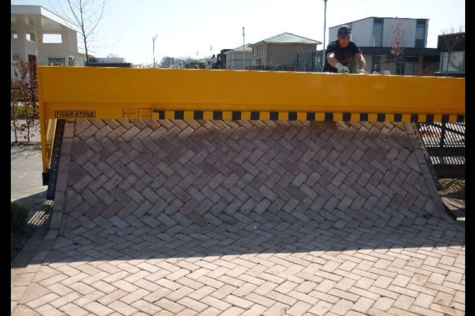 The Tiger Stone is the paver-laying machine that came out of the Netherlands a half-dozen years ago.