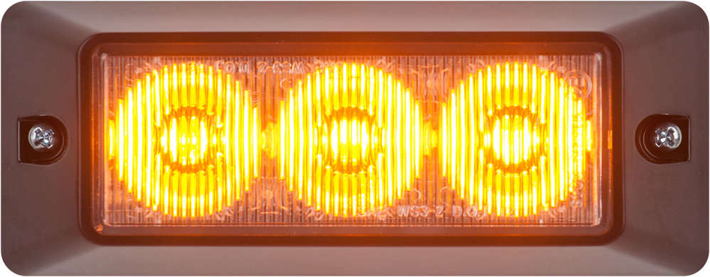 The family of nine white and amber directional warning lamps was designed with flexibility, performance and durability in mind.