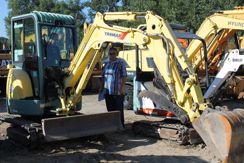 Roger Baill, owner of R&B Contracting in Connecticut, was testing out the Yanmar mini-excavator.