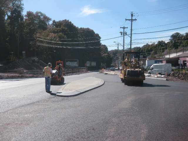 """The project also included the addition of a """"jug handle,"""" or ramp-like structure, at the intersection on the northbound side, eliminating left turns on state Route 51."""
