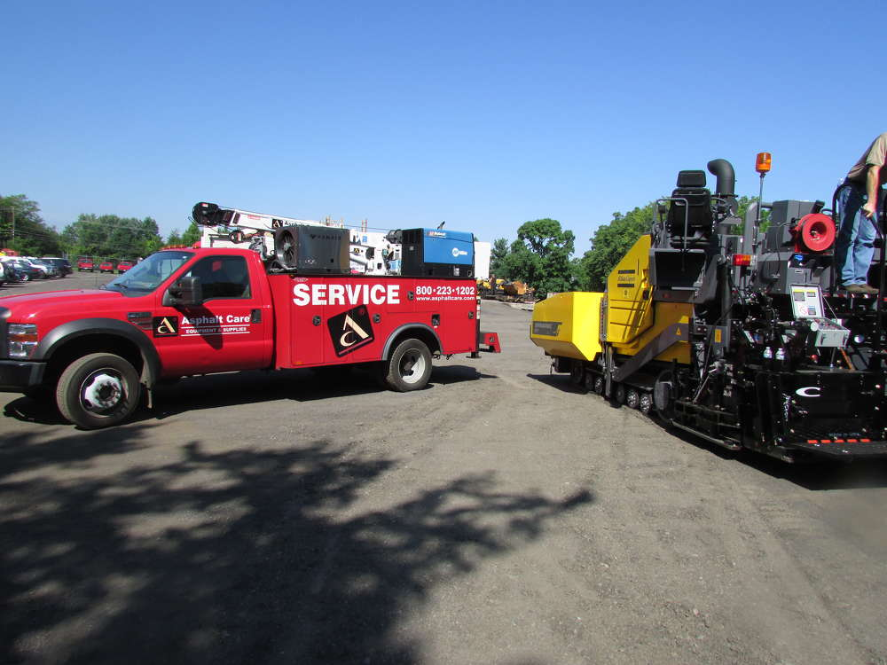 Asphalt Care Equipment of Bensalem, Pa., recently took delivery of its first Atlas Copco F800T tracked paver.