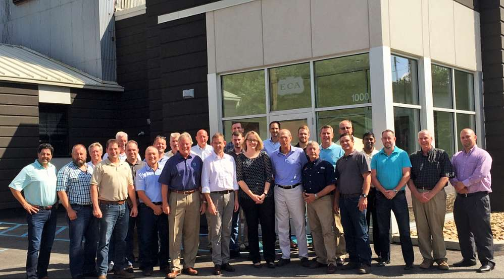 ECA's American and Canadian employees demonstrated their commitment to customer service by completing a three-day training session conducted by Bauer Maschinen.