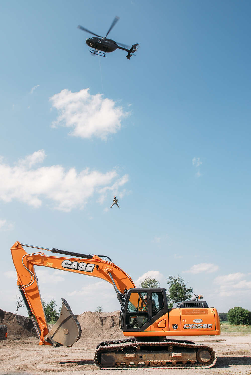 Case Construction Equipment and Miller-Bradford & Risberg provided equipment and product/training support to Team Rubicon as part of Patriot Exercise 2016, a full-scale training exercise at Volk Field Air National Guard Base July 16 to 23.