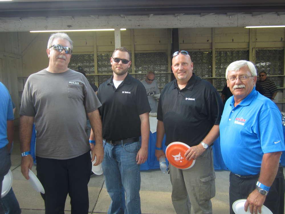(L-R): Bruce Kattalia, Steve Herbert, Jeff Holmes and Mike Bukowski represent Atlas Bobcat at the event.