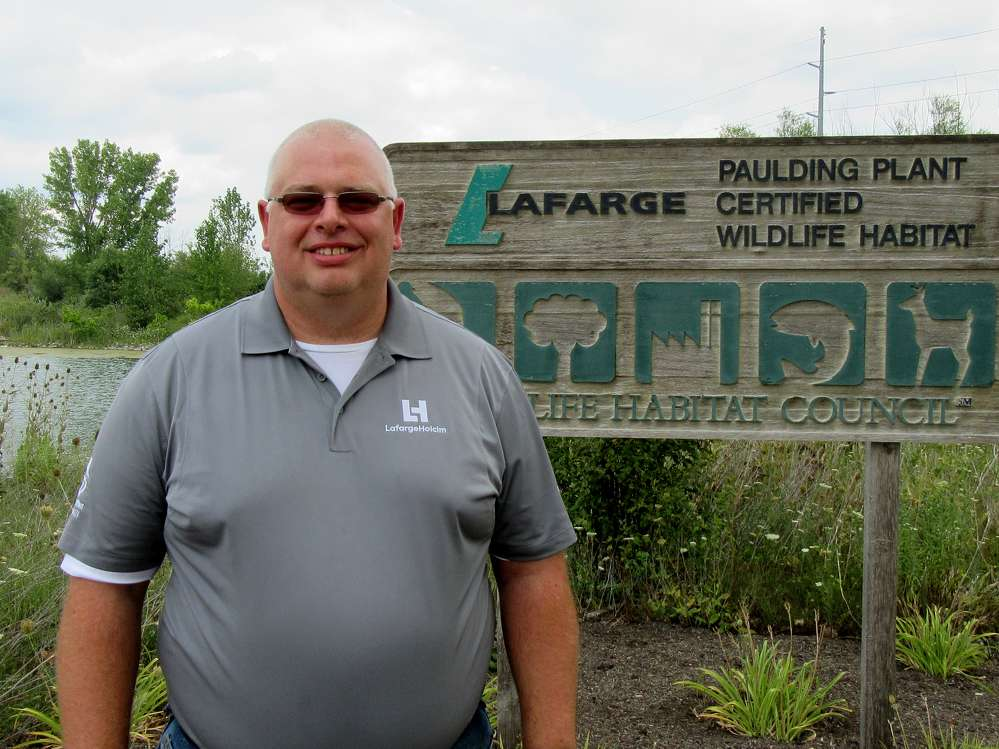 Jeff Scott, Lafarge Paulding, Ohio, plant manager, keeps everything running smoothly at the event.