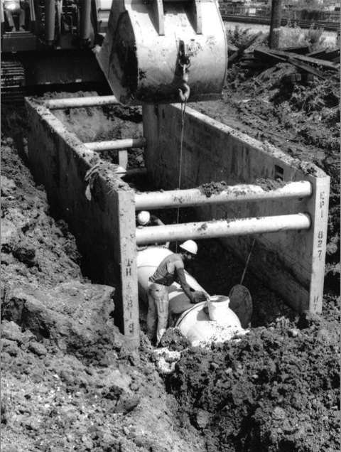 As the technology to create a trench advanced, companies also were developing ways to shore trenches.