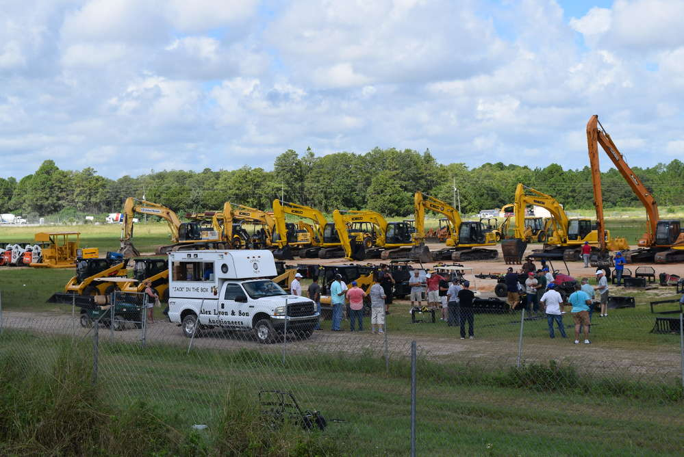 The auction featured a wide variety of equipment.