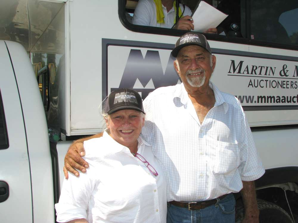 Debbie Martin of Martin & Martin Auctioneers and Raford Bussey, RW Bussey Construction Company, have been friends for more than 35 years. They and are working together to liquidate machines for his company.