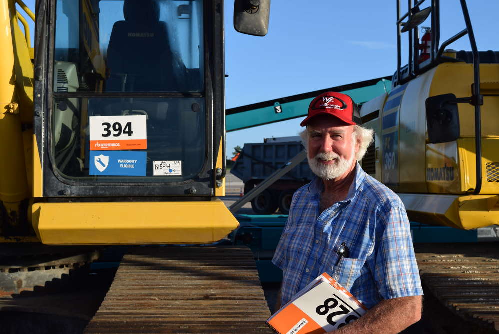 Gene Mauldin of Mauldin Excavation came down from Georgia in hopes of finding a Kobelco excavator to take home.