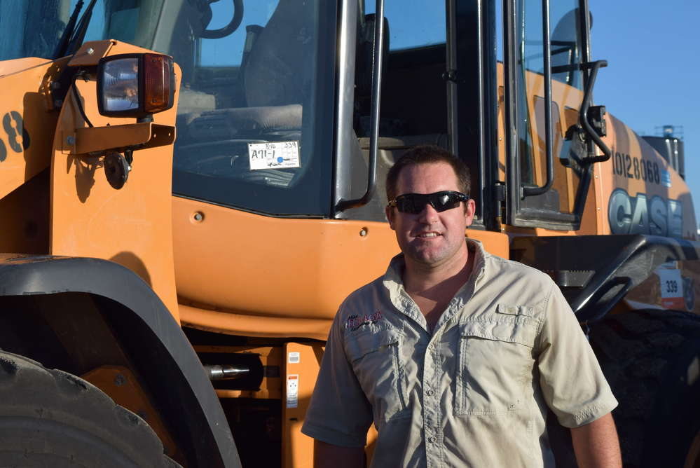Chris Haack of Haack Excavating, Key West, Fla., considers