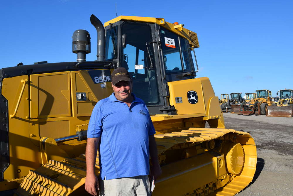 Glenn Hartman of Hartman Construction Ltd. traveled all the way from Canada, hoping to purchase some equipment.