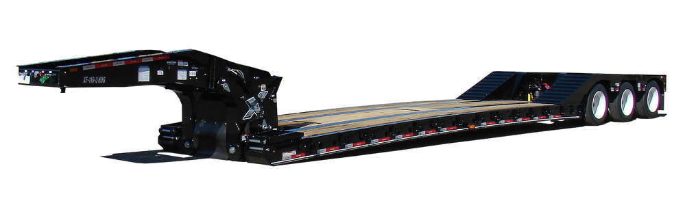 The X-Force SL Series provides an 18 in. (45.7 cm) usable level deck height with a 6 in. (15 cm) ground clearance, making it an ideal spec for carriers that specialize in extra-tall cargo/equipment transport.