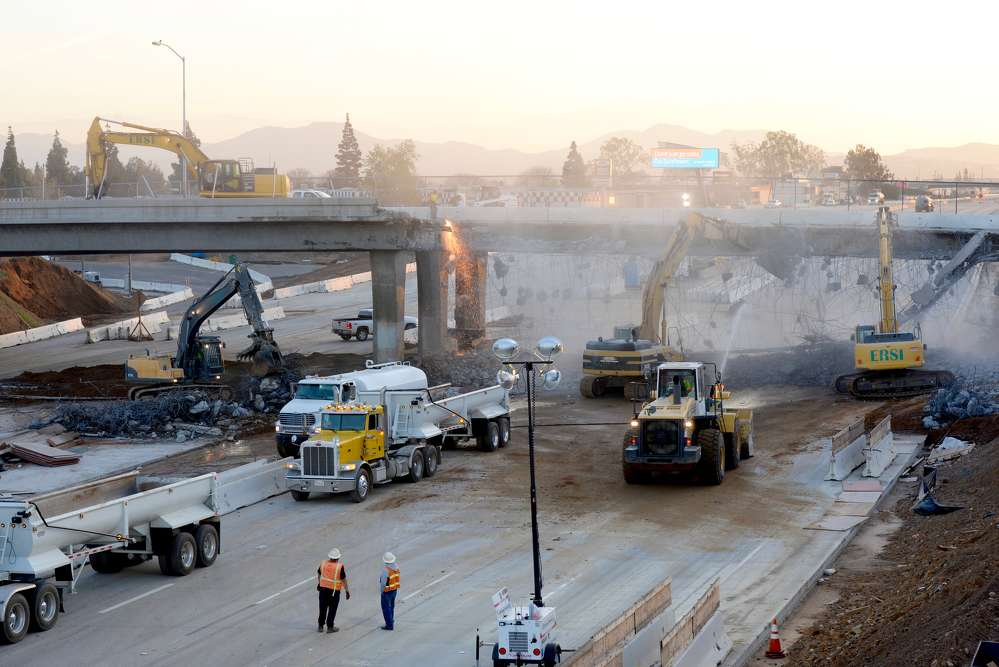 Work is ongoing on a $1.4 billion project to widen State Route 91 from the Riverside County line in Corona to Pierce Street.