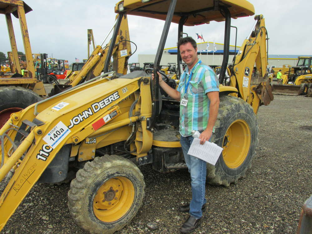 Jason Taylor of Heavy Rig in Hot Springs, Ark., came quite a distance to see this John Deere 110 loader/backhoe.