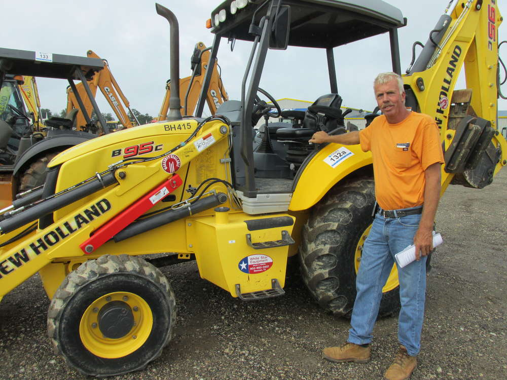 Hans Boerhof, general contractor, Multi Steel in Sulphur Springs, Texas, just bought this New Holland B95C loader/backhoe.