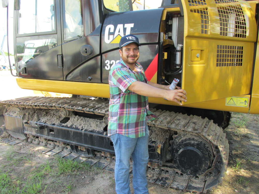 Carlos Galvan of G&G International Equipment in San Benito, Texas, thinks he has just the right customer for this Cat 320 D excavator.