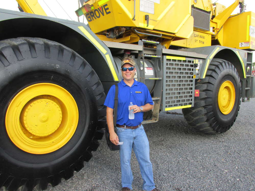 Hague Palmer of Ring Power Crane in St. Augustine, Fla., came a long way to check out this Grove 890E crane.