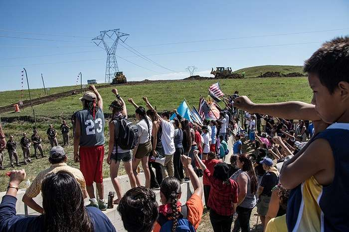 Photo courtesy of Dustin White.Arrests have been made in North Dakota and Iowa during protests against the construction of the Dakota Access oil pipeline.