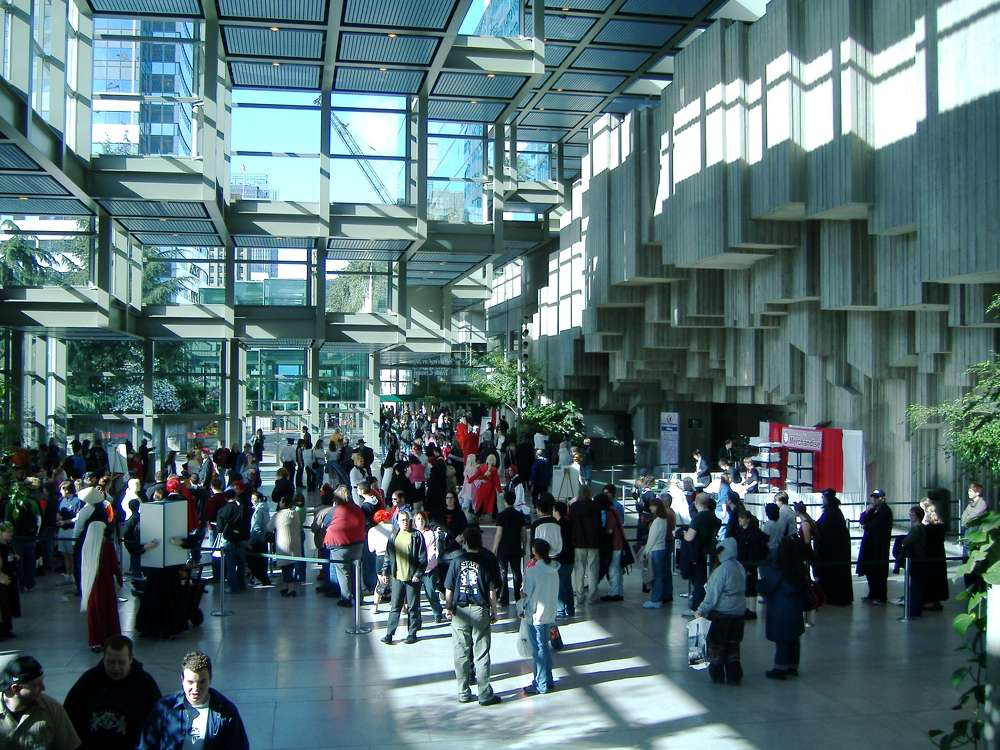 Image courtesy of Colin Keigher. The South Lobby of the Washington State Convention Center.
