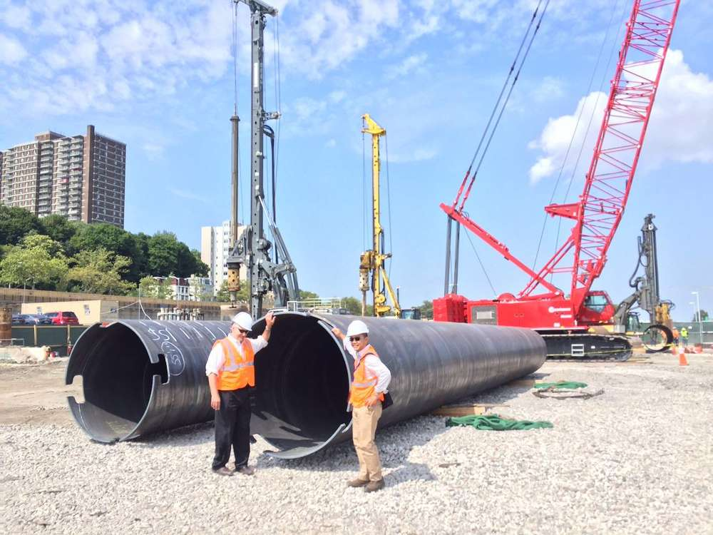 New York Wheel LLC photo. Approximately 7,000 tons (6,350 t) of steel will be used to construct the wheel.