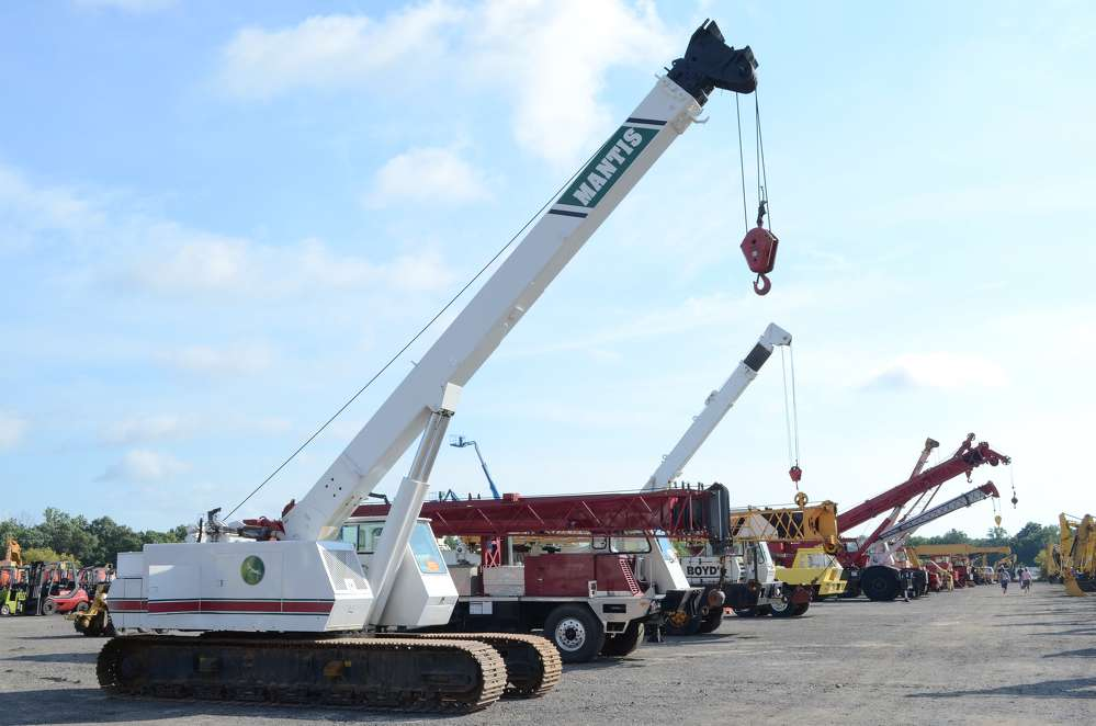 Equipment was lined up as far as the eye could see at Ritchie Bros.' Aug. 25 auction.