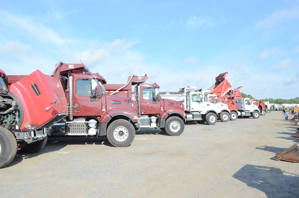 Dump trucks from Ford, Kenworth, Mack, Peterbilt, Sterling, Volvo and Western Star were all up for auction.