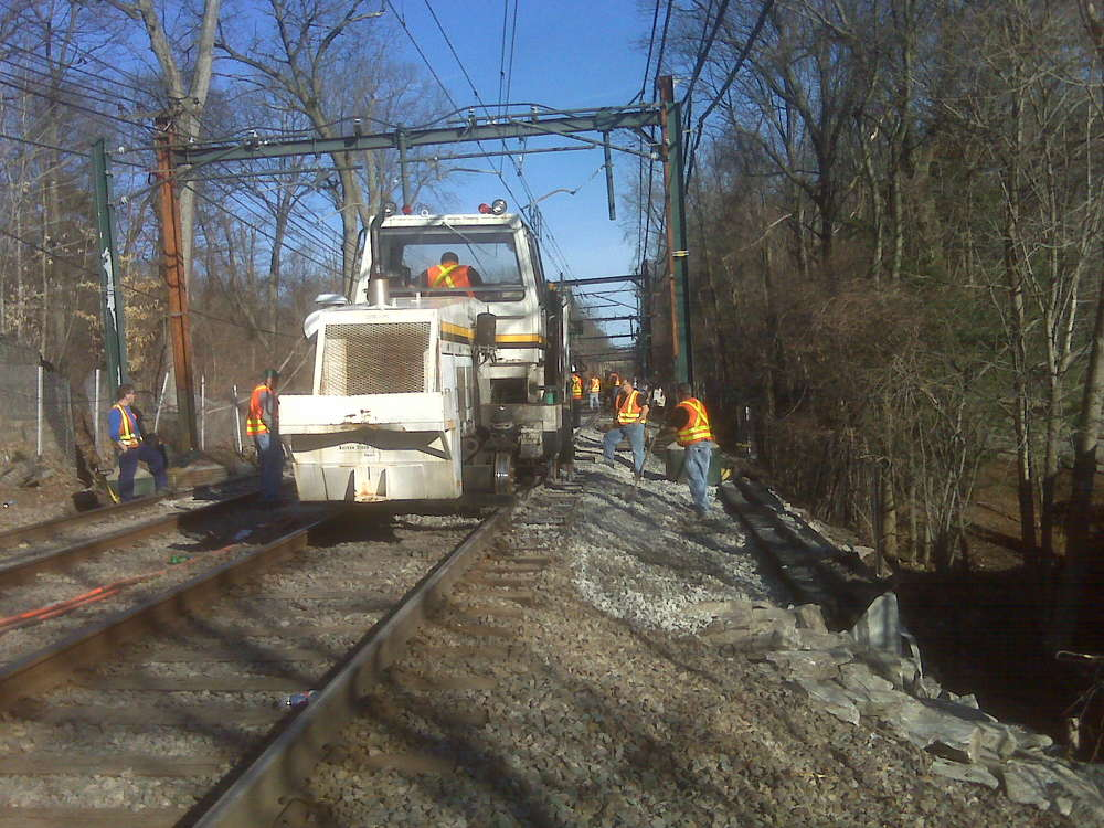 MTBA photo. The MBTA is allowing the elements already under construction to continue, but is not awarding new contracts.