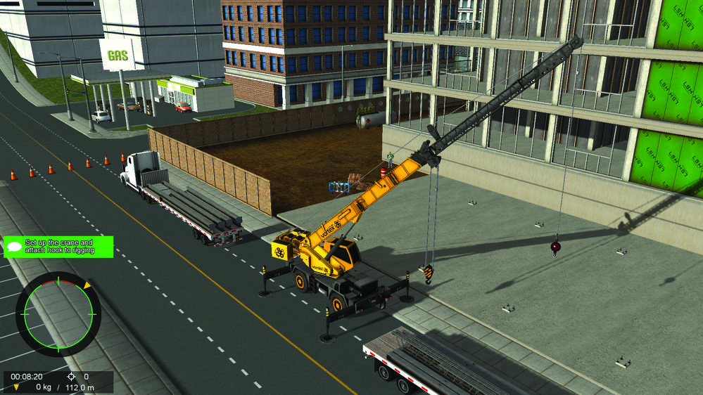 Typical graphic display from a training module to be used as part of the study being conducted by Crane Industry Services LLC, CM Labs Simulations Inc. and West Georgia Technical College.