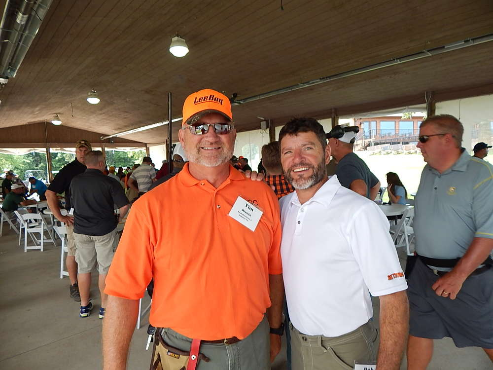Tim Rients (L), territory manager, and Bob Ciardelli, territory manager, both of RMS Rents, Savage Minn., look forward to the great weather and some great shooting.
