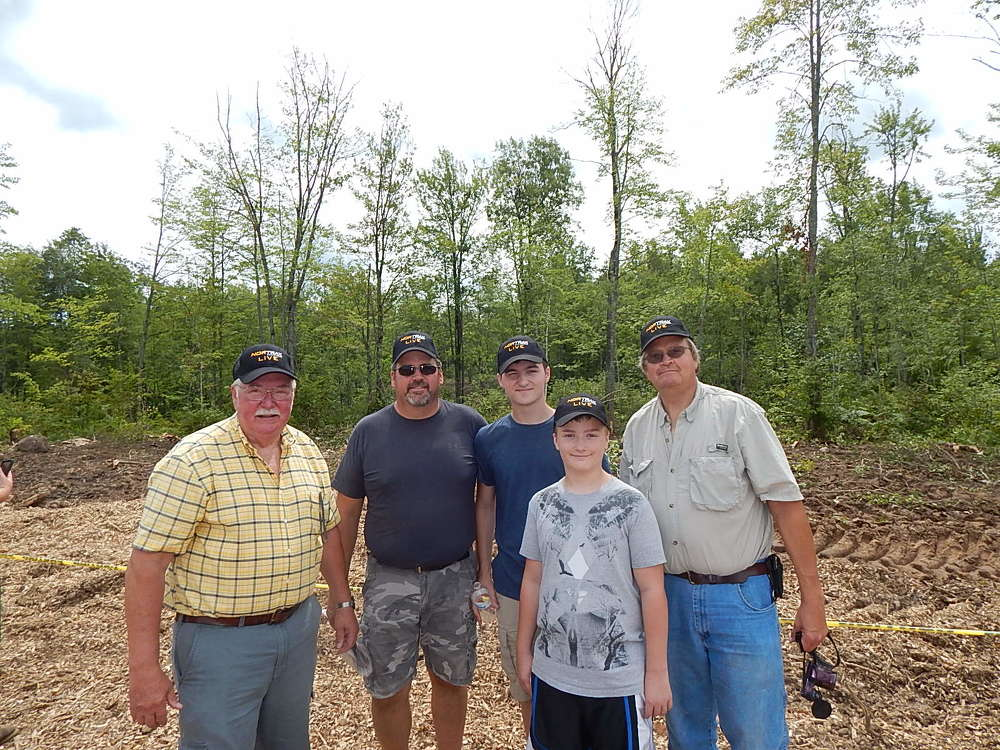 (L-R) are Rod, Tony, Zachary and Cole Thompson and a friend of the family, Dave Nynas. The Thompsons are the owners of property that is part of a federal program to help improve the habitat for the Golden Wing Warbler.
