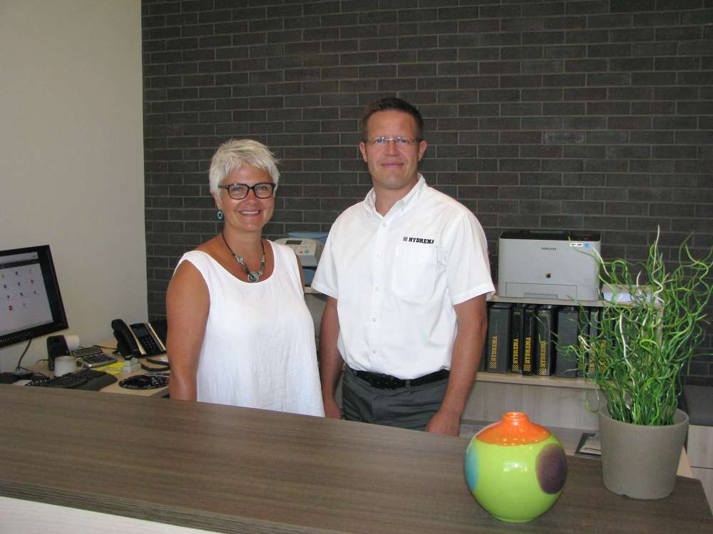 Hydrema's Jette (L) and Kris Binder have been the driving force behind planning and completion of the new headquarters facility.