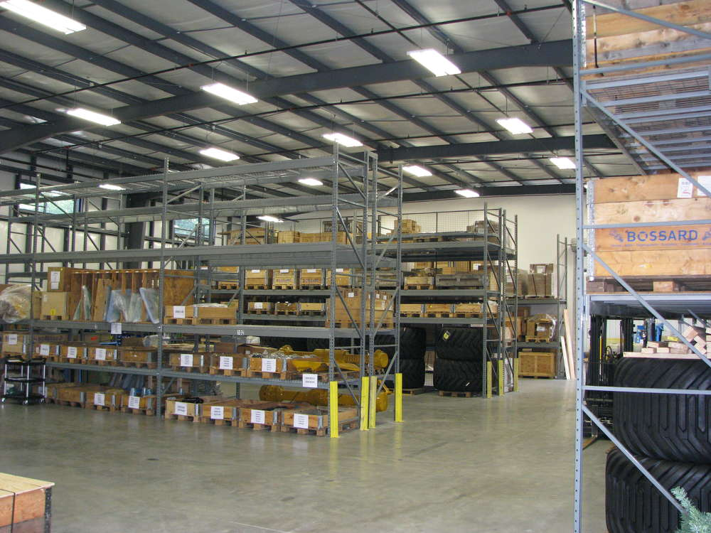The facility features improved parts stocking capabilities.