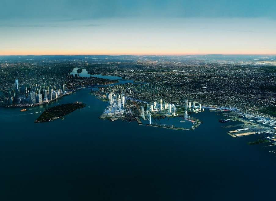 Photo courtesy of AECOM. This very realistic proposal from engineering and construction giant AECOM was unveiled on Tuesday at a symposium titled