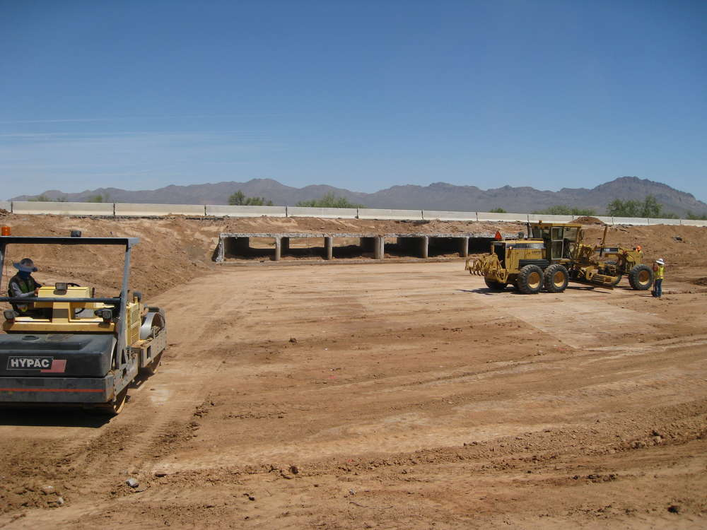 AZDOT photo. The project also includes construction of two bridge structures. Bridges will cross Black Wash and Snyder Hill Wash.