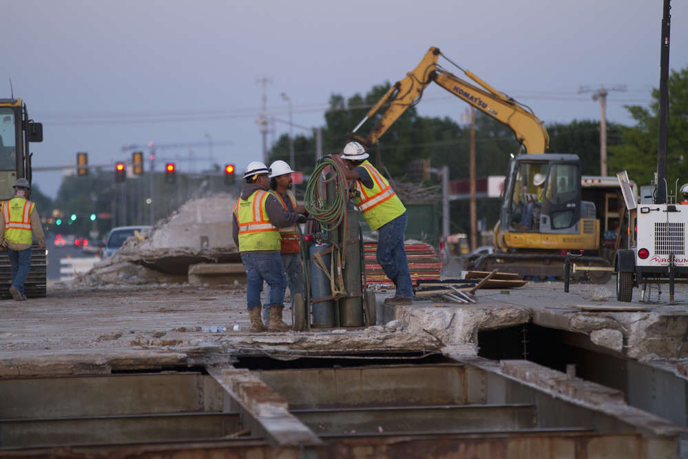 ODOT photo. The project will increase capacity in a very congested area and improve interstate access.