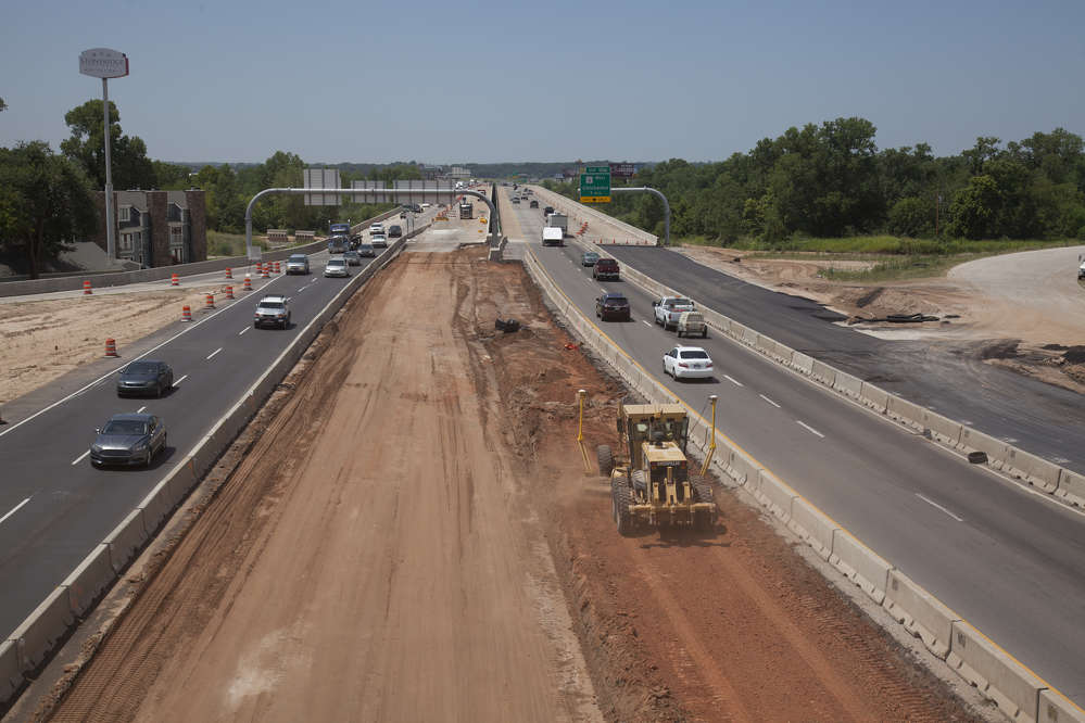 ODOT photo. I-35 will be widened from south of Main Street to the South Canadian River, completing a larger project to widen the highway from Oklahoma City to Norman.