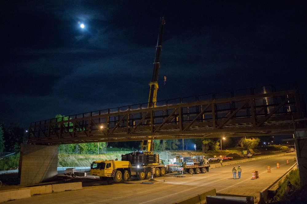 Bridges along U.S. 6 in Denver, Colo., are replaced.