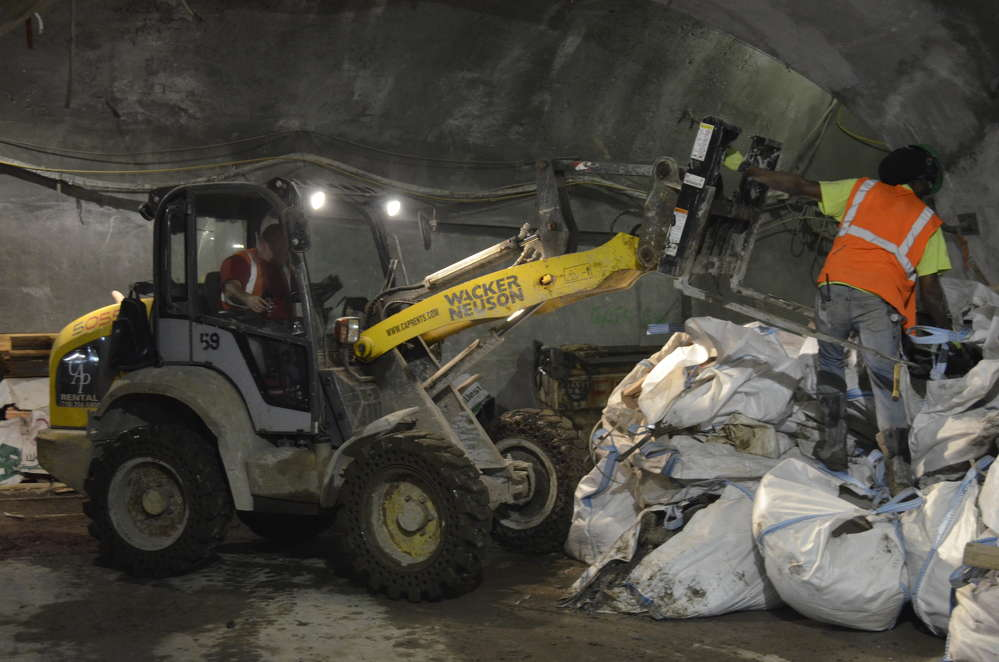 This Wacker Neuson machine is responsible for loading and unloading the material that comes into the tunnel and debris that goes out.