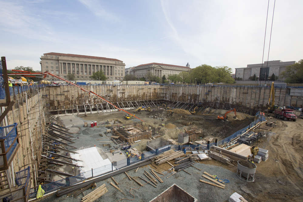 Michael R. Barnes / Smithsonian Institution photo The museum is reportedly one of the largest and most complex building projects in the country, mainly because of the challenges of constructing 60 percent of the structure below ground.