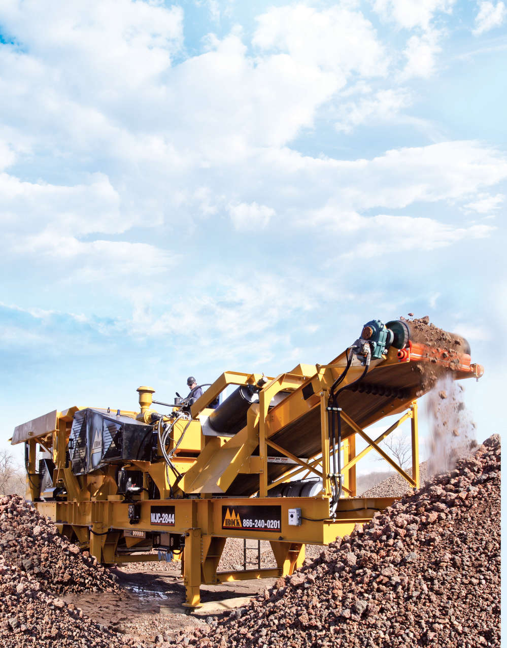 Abrasive materials such as aggregates, sand and gravel found in a variety of construction and road building applications, expose crushers to the risk of excessive wear. This wear can cause even greater damage and slower production if not kept in check.