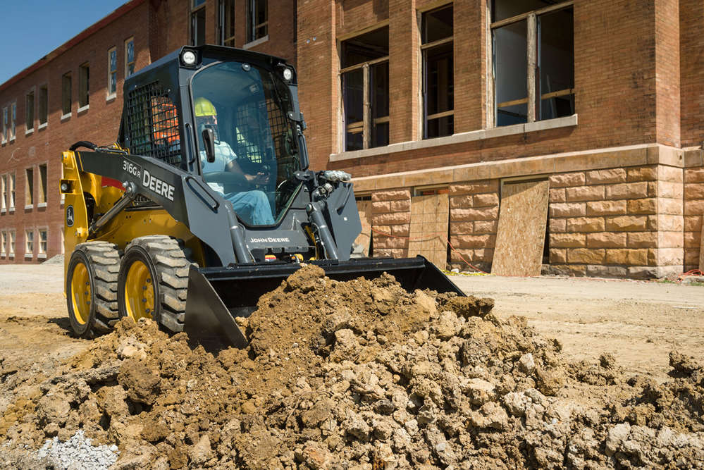 Worksite Pro buckets, like the grading-heel options, are ideal ways to take advantage of skid steers' and CTLs' steep dump angle and high bucket rollback.