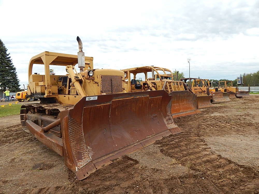 The sale featured a wide variety of dozers.