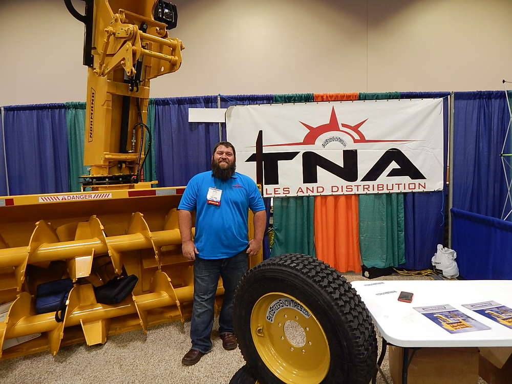Steve Koep, owner of True North Attachments and TNA Snow Products, Fargo, N.D., talks about this Norman N120-36Z triad snow blower and his popular skid steer snow tires.