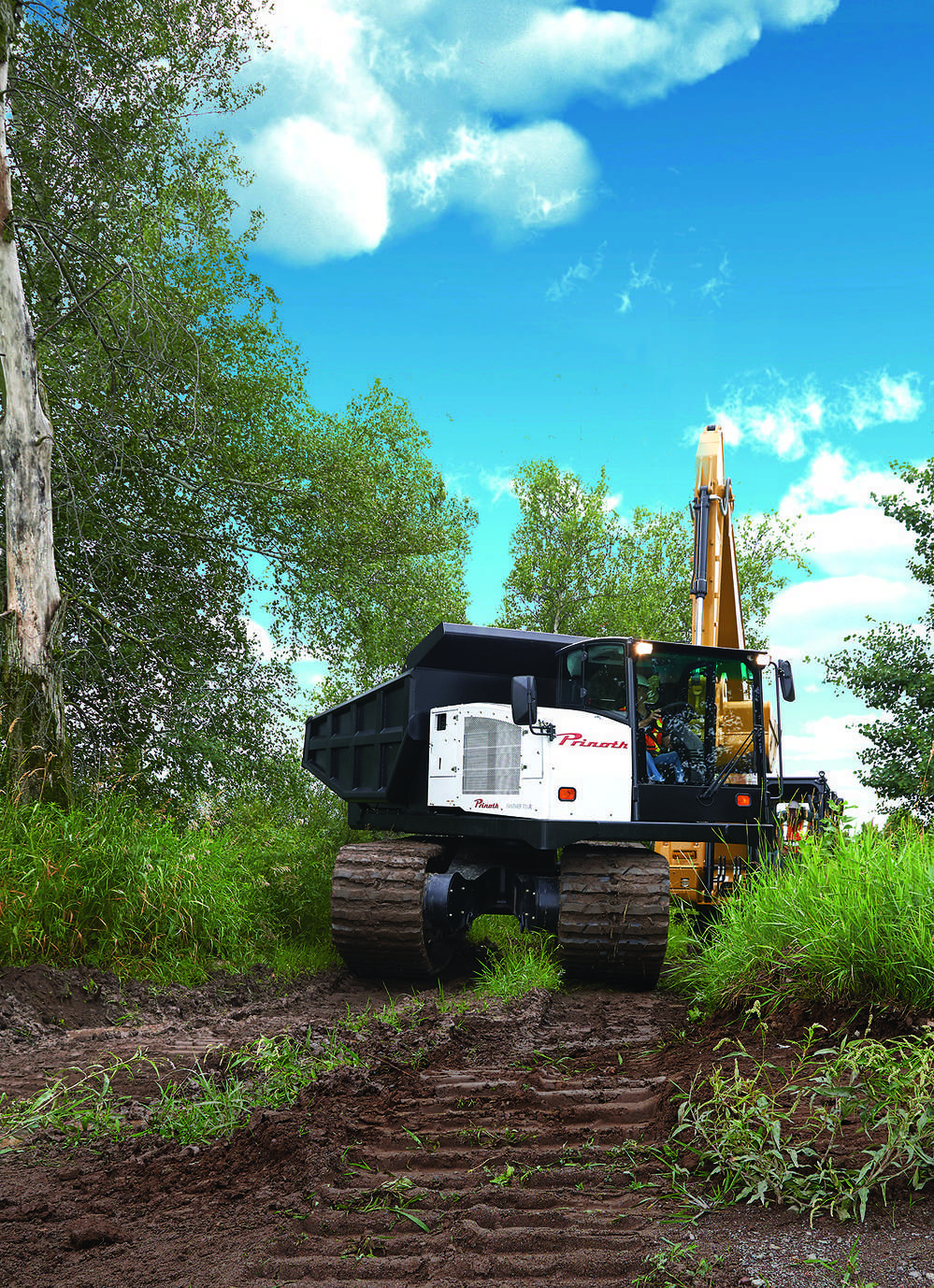 Additional features of the PANTHER T14R include a ROPS/FOPS certified cab designed for operator safety and comfort.