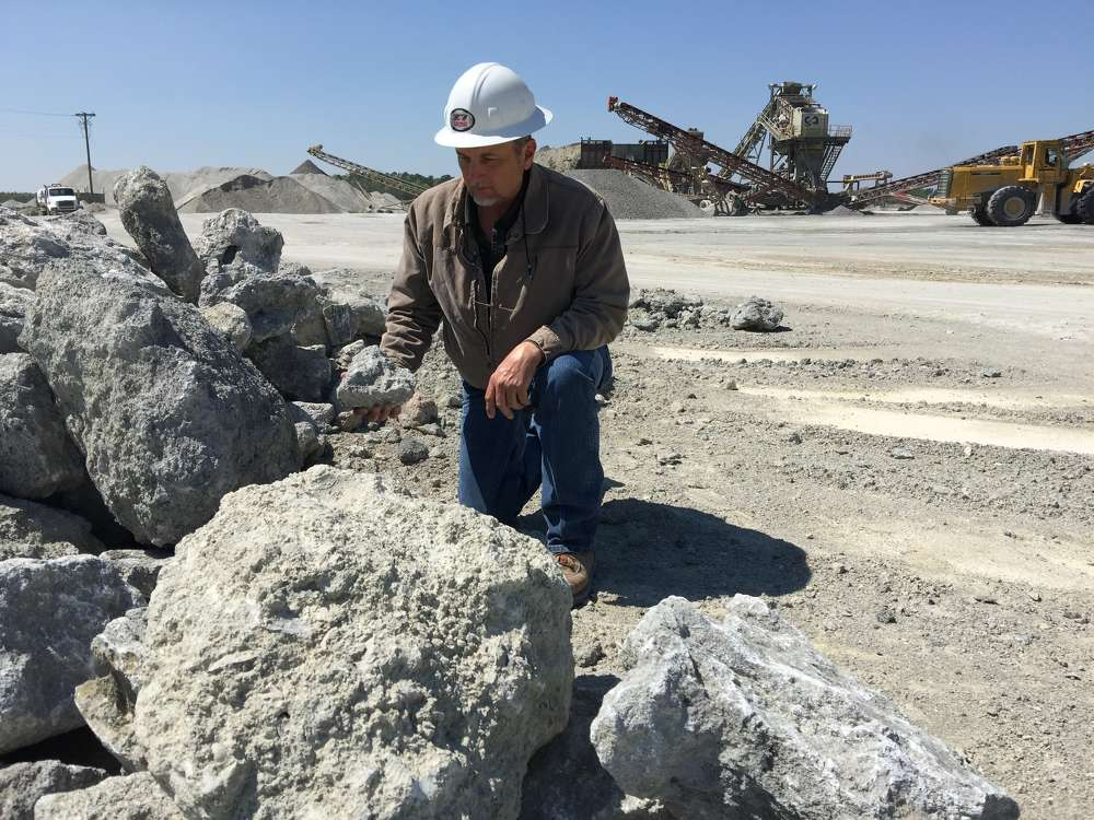 """We have the capability to make entrance stone, too, which is a 1 5/8-inch-plus stone product,"" said David Buffkin, SC Rock."