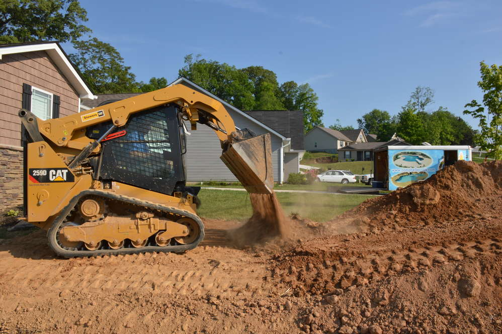 While Tony Campbell was a little concerned about using a machine with a joystick, he decided to go ahead and buy the Cat 259D compact track loader after a friend told him that the joystick is so much easier on the operator.