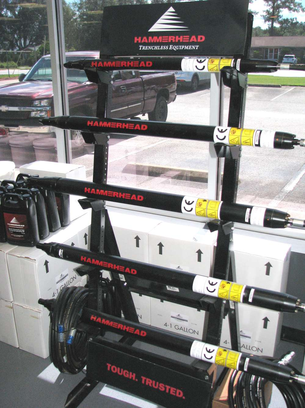 The new showroom layout provides plenty of room for manufacturer displays of products including Ditch Witch of Georgia's Hammerhead trenchless equipment products.